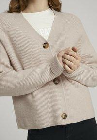 TOM TAILOR DENIM - Cardigan - soft beige - 3