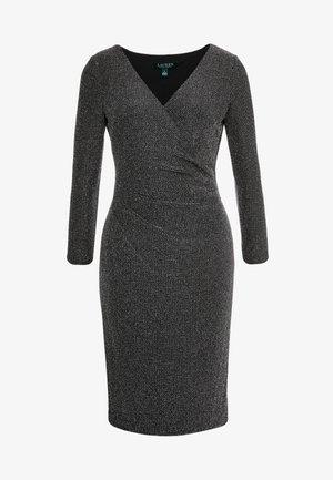 MINI METALLIC - Sukienka etui - black/silver