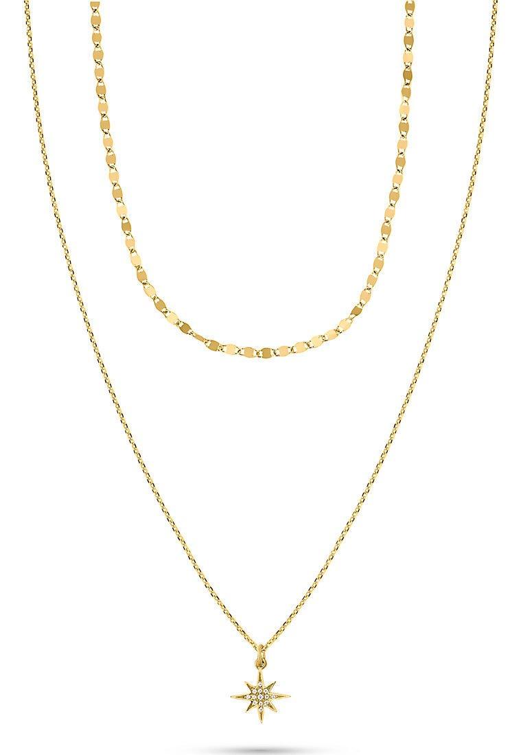 QOOQI - Necklace - gelbgold