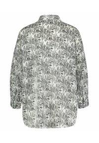 Opus - FILMA GARDEN - Button-down blouse - white/black - 2