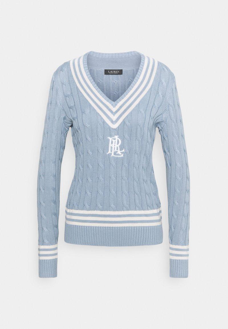 Lauren Ralph Lauren - GASSED V NECK  - Jumper - dust blue
