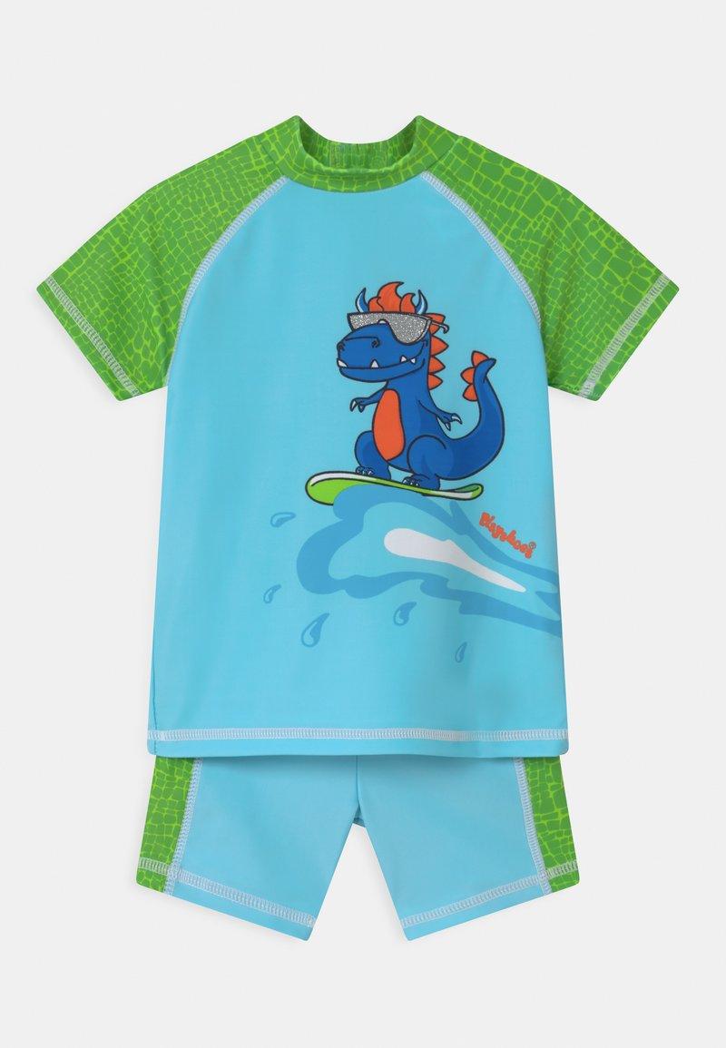 Playshoes - UV-SCHUTZ DINO SET - Rash vest - blau/grün