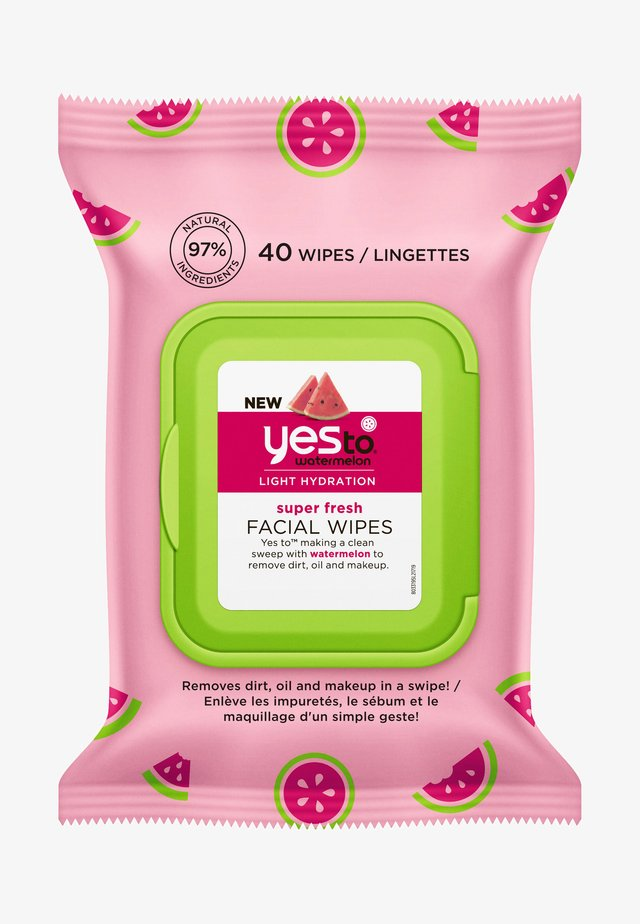 WATERMELON SUPER FRESH FACIAL WIPES 2 PACK - Skincare set - -