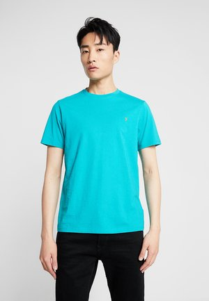 DENNY SLIM - Basic T-shirt - turquoise green marl