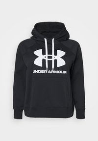 Under Armour - RIVAL LOGO HOODIE - Felpa con cappuccio - black - 0