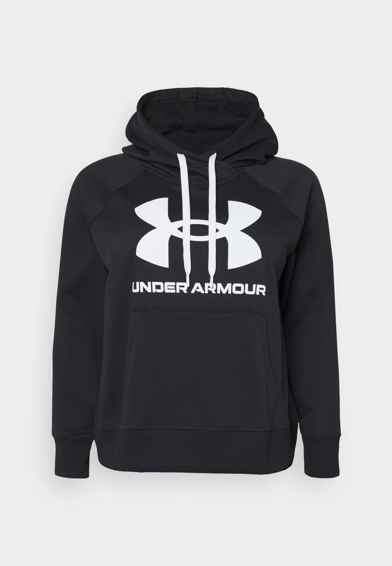 Under Armour - RIVAL LOGO HOODIE - Felpa con cappuccio - black