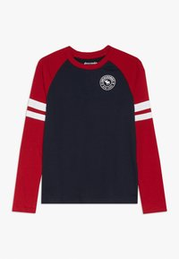 Abercrombie & Fitch - FOOTBALL TEE - Long sleeved top - navy/red - 0