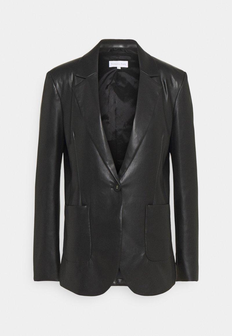Patrizia Pepe - GIACCA SOFT - Faux leather jacket - nero