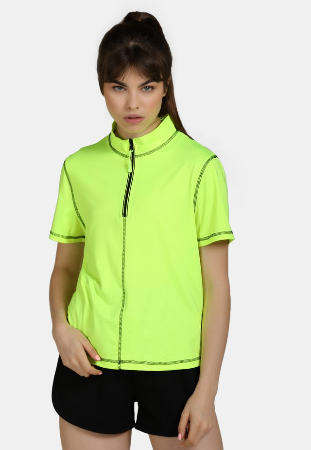 T-shirt med print - neon yellow