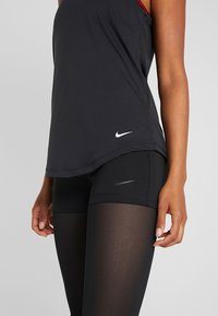 Nike Performance - DRY - T-shirt sportiva - black/white - 5