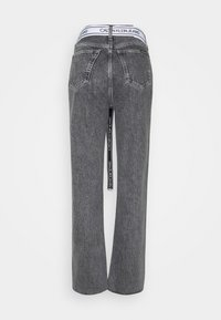 Calvin Klein Jeans - HIGH RISE STRAIGHT ANKLE - Jeans Straight Leg - grey denim - 6