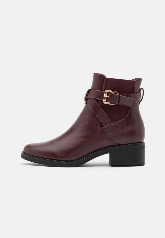 Bottines - bordeaux