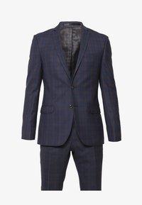 OVERCHECK SUIT - Suit - navy