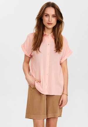 Button-down blouse - peach skin