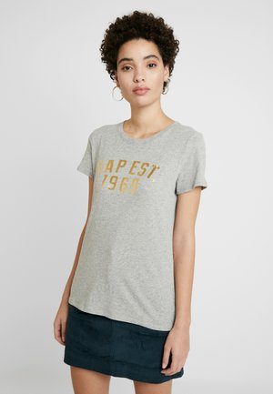 FOIL TEE - T-shirts med print - light heather grey