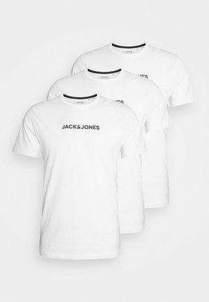 JACRAIN TEE 3 PACK - Pyžamový top - white/white/white
