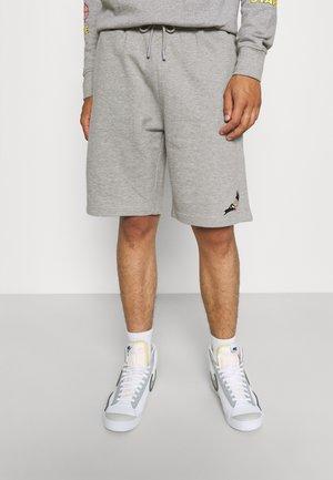 PIPED UNISEX - Shorts - heather grey
