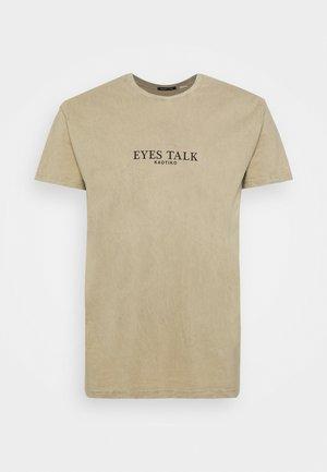 EYES TALK UNISEX - Camiseta estampada - stone