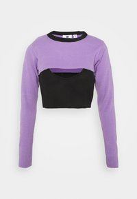 The Ragged Priest - DOUBLE LAYER - Maglione - black/lilac - 4