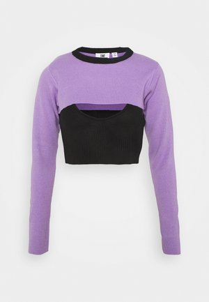 DOUBLE LAYER - Neule - black/lilac