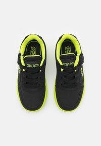 Kappa - UNISEX - Sports shoes - black/lime - 3