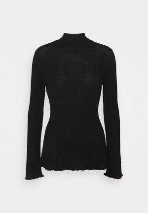 MOCK NECK - Pitkähihainen paita - black beauty