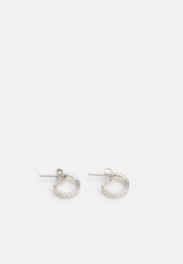 SEENI MINI HOOP HUGGIE EARRING - Earrings - silver-coloured/crystal