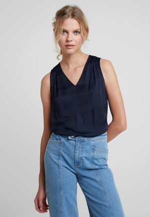 INVERTED PLEAT BLOUSE SOLIDS - Camicetta - preppy navy
