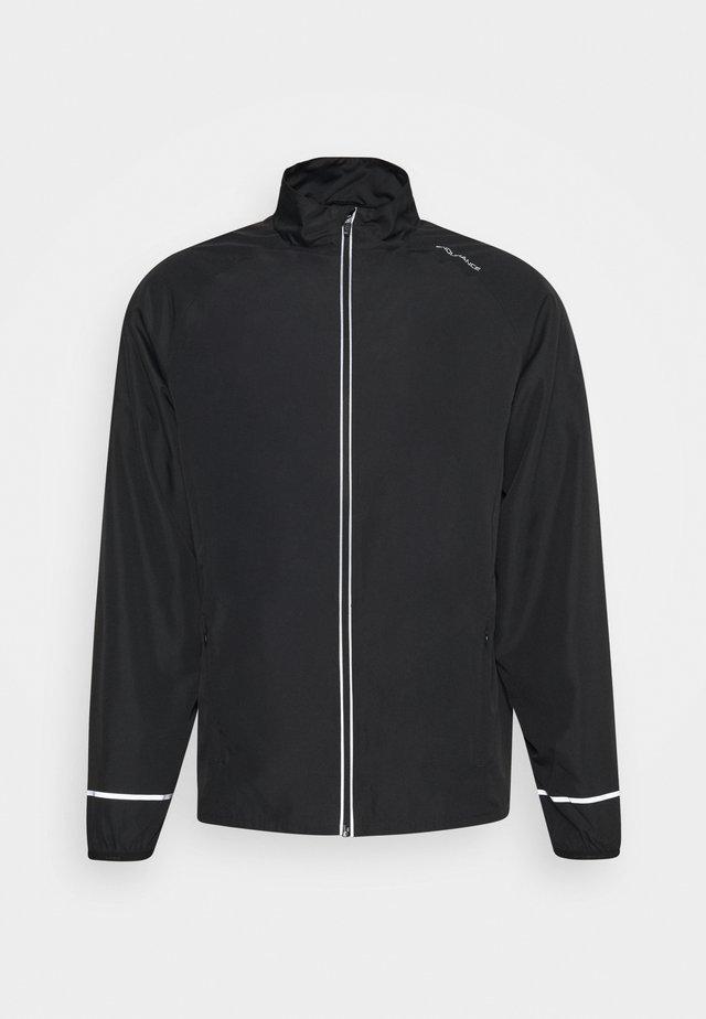 LESSEND JACKET - Běžecká bunda - black