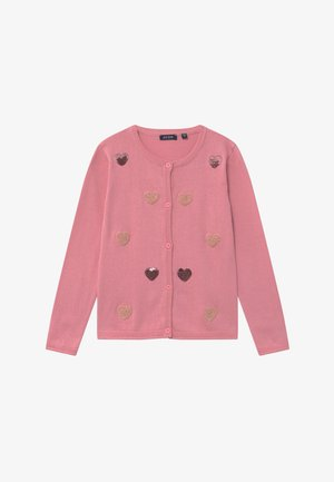KIDS SEQUIN HEARTS - Strickjacke - mauve