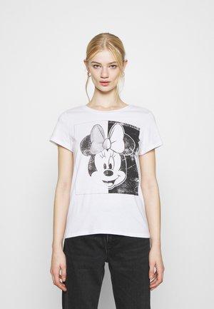 MINNIE FACE  - Print T-shirt - white