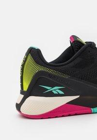Reebok - NANO X1 GROW - Sports shoes - core black/pursuit pink/pixel mint - 5