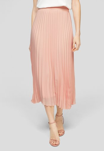 MIT PLISSEEFALTEN - Pleated skirt - spring rose