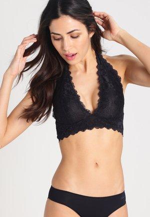 GALLOON HALTER - Triangle bra - black