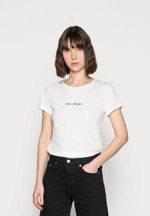 LOVE ALWAYS TEE - Print T-shirt - antique white