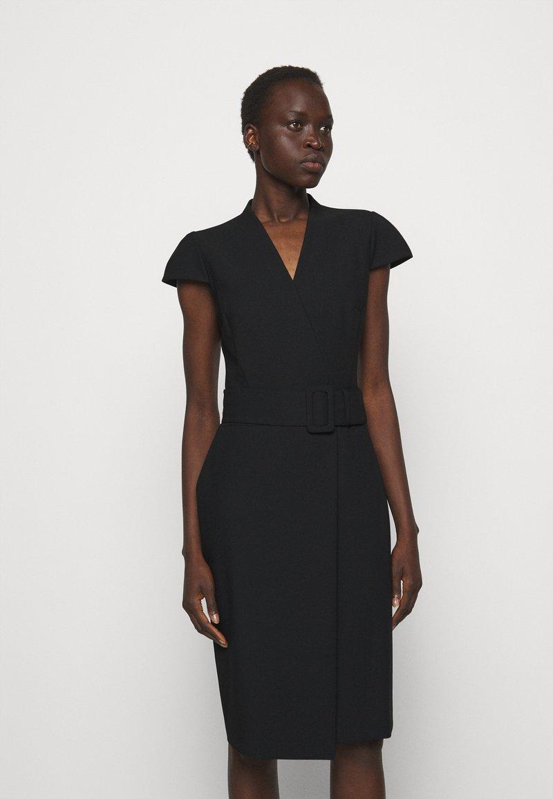 HUGO - KAMURE - Shift dress - black
