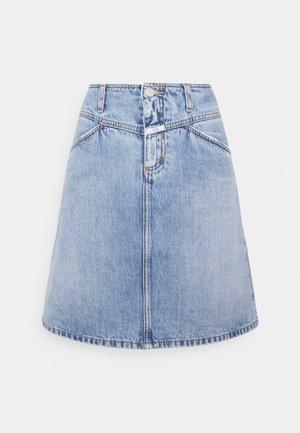 IBBIE - Denimová sukně - mid blue