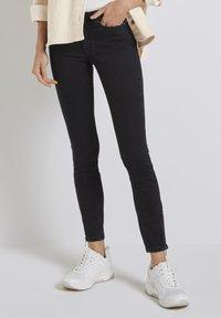 TOM TAILOR DENIM - Jeans Skinny Fit - used dark stone black denim - 3