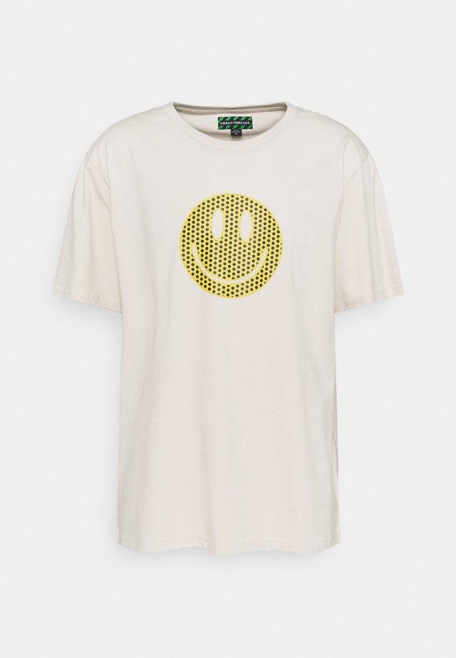 UNISEX  - T-shirt con stampa - ecru