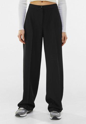 WIDE LEG - Pantaloni - black