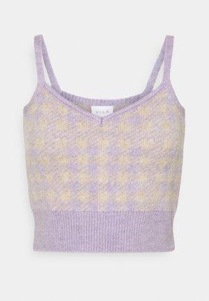 VICHEKINA STRAP - Top - natural melange/lavender