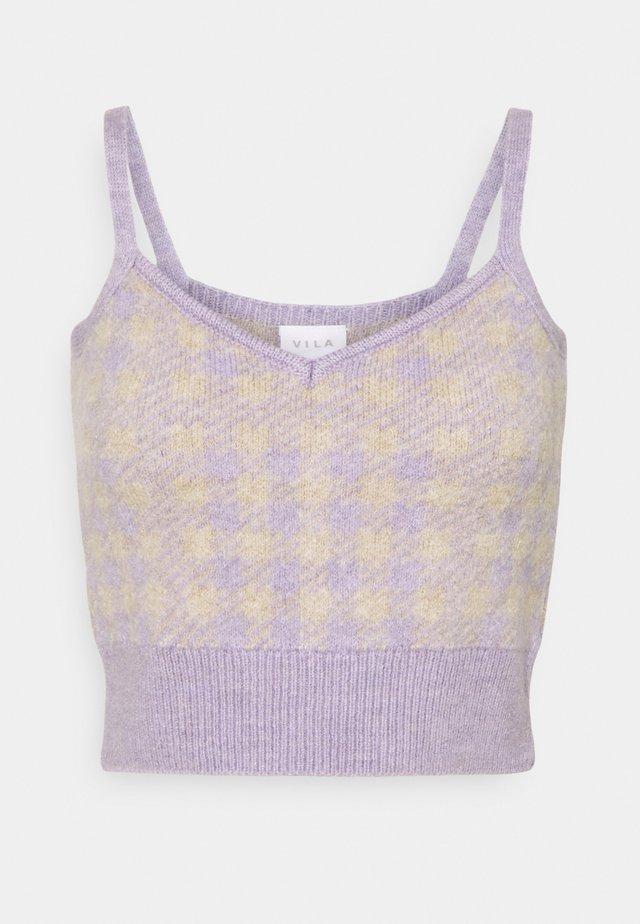 VICHEKINA STRAP - Topper - natural melange/lavender
