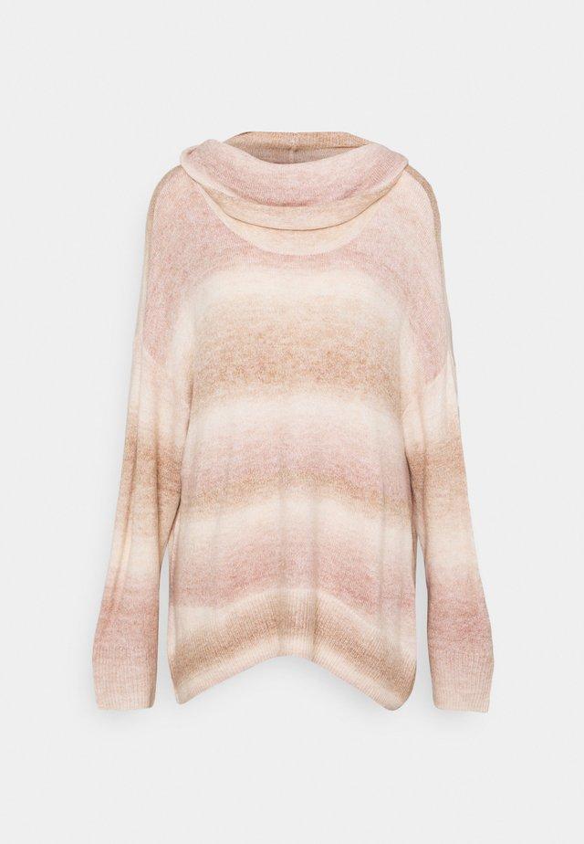 SPACEDYE COWL  - Sweter - beige/light pink