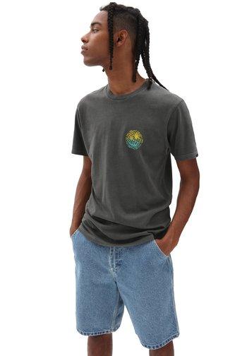 MN VINTAGE CHECKER PALMS SS - T-shirt med print - black