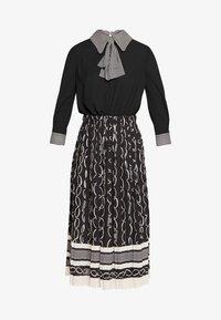 Elisabetta Franchi - 2-IN-1 - Áčková sukně - nero/burro - 5