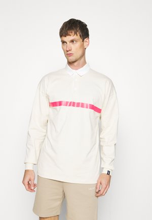 TAPE RUGBY - Poloshirt - white/pink