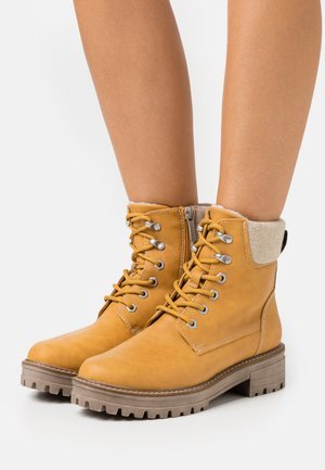 Lace-up ankle boots - saffron