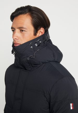 STRETCH HOODED - Talvitakki - black