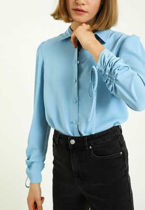 Button-down blouse - himmelblau