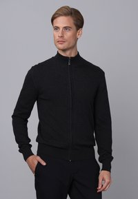 Basics and More - Cardigan - black melange - 2
